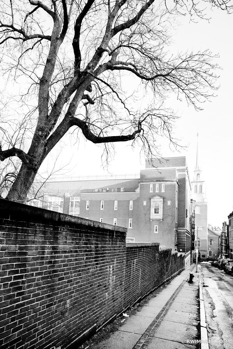 NORTH END BOSTON BLACK AND WHITE VERTICAL