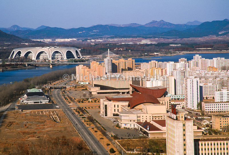 Views of Downtown Pyongyang, North Korea