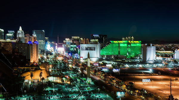 The Las Vegas Strip from Night to Day