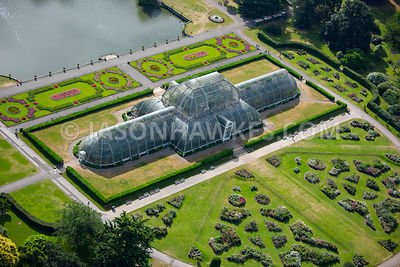 London, aerial view of Kew Gardens