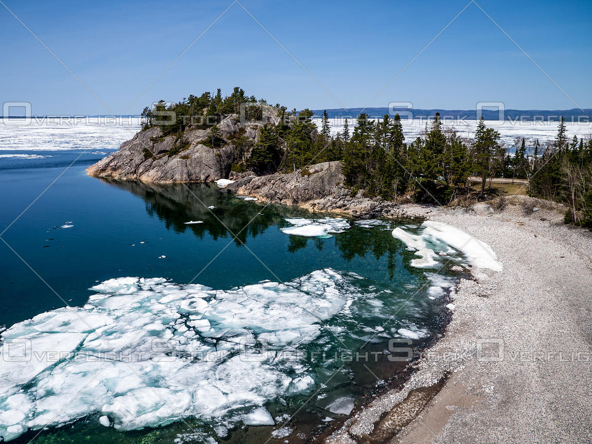 Spring thaw on Lake Superior.
