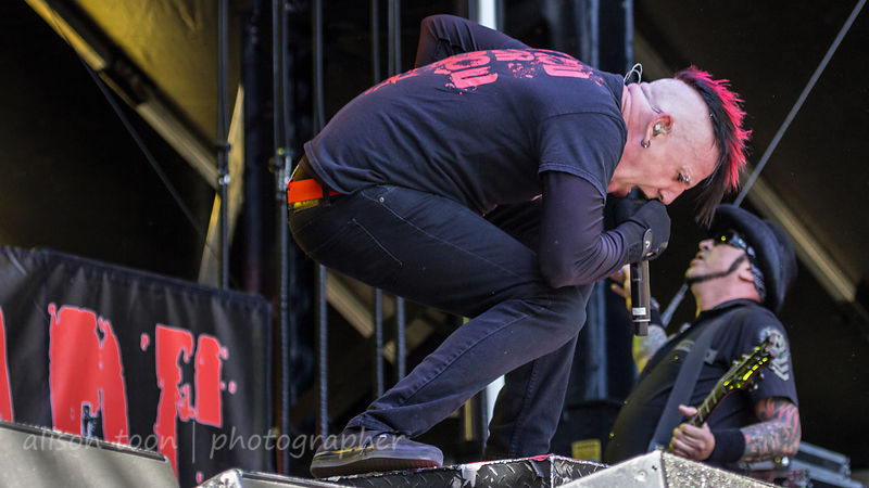 Chad Gray and Tom Maxwell of HELLYEAH, Aftershock 2014
