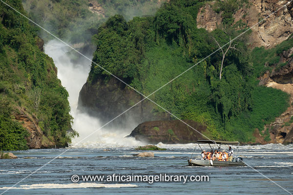Boat trip to Murchison Falls on the Victoria Nile, Murchison Falls National Park, Uganda