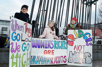 3 generations of one family at Women's March on Castlebar - Bridges not Walls Rally. .©Alison Laredo.#WomensMarch #BridgesNot...