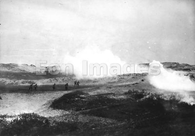 Gas attack in Flanders during WWI