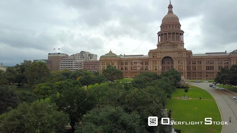 Yoga at Texas State Capital Building Austin Texas USA Drone Video