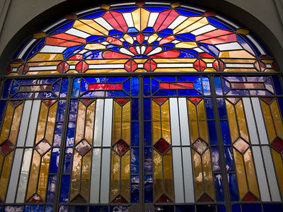 Italy - Naples - stained glass at The Hotel Costantinopoli 104