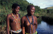 Zulu maidens at the river, Kwazulu-Natal, South Africa