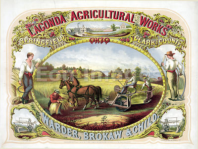 Ad from 1859 for Lagonda Agricultural Works