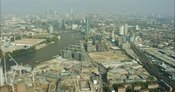 London Aerial Footage of redevelopment of Battersea Power Station.
