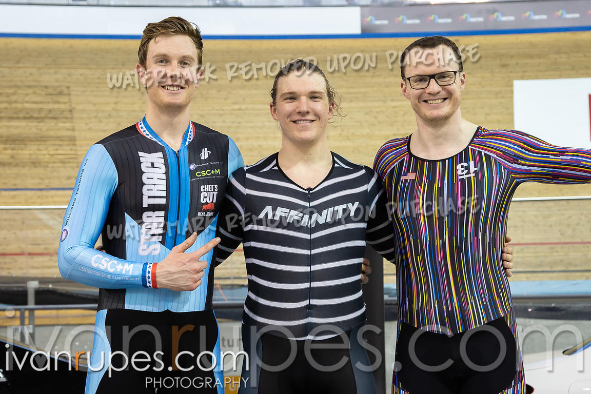 Men Keirin Podium. Ontario Track Championships, March 3, 2019