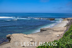 Rocky Shoreline in La Jolla, San Diego, California
