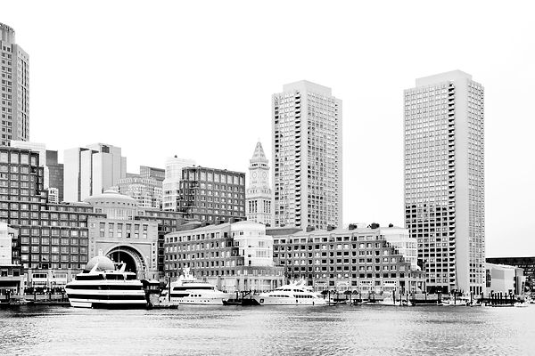 ROWES WHARF BOSTON BLACK AND WHITE