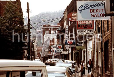 Main Street of Logan, West Virginia, Showing a Narrow Street with Parking on Only One Side Which Is Typical in Many of the Sm...