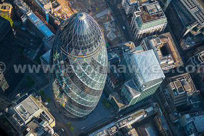 Swiss Re Tower, aerial view
