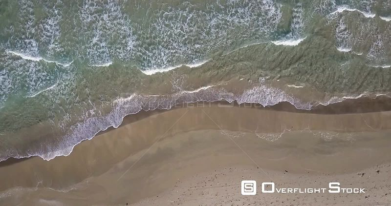 Sea waves and empty beach flight Israel