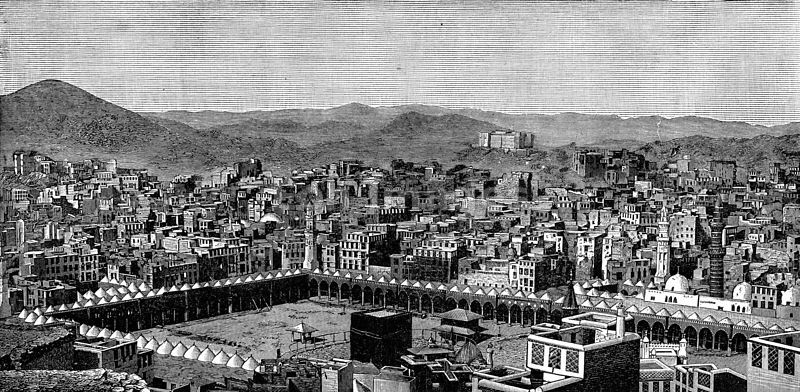 Mecca in a 19th-century drawing