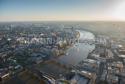 Aerial view of Blackfriars, Southwark / The Borough , London