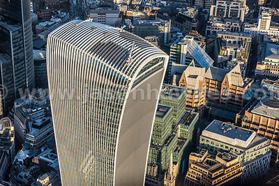 Aerial view of 20 Fenchurch Street, London