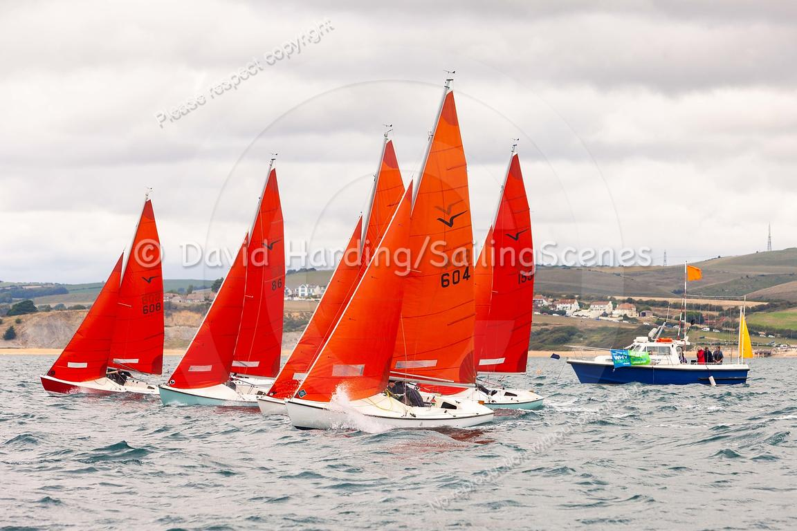 Squib start, Weymouth Regatta 2018, 201809081122.