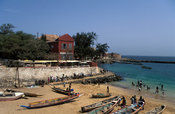 pirogues on the beach, Goree Island, Senegal