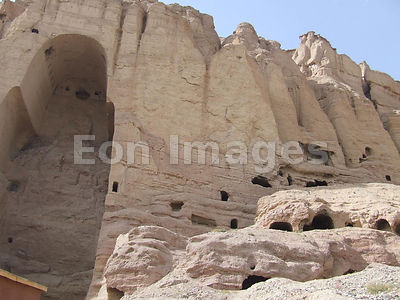 Cave that held Large Buddha in Bamyan, Afghanistan