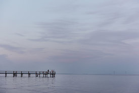 People on a dock by Svendborg
