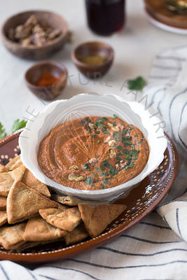 Roasted Red Pepper with Walnut Dip