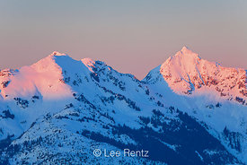 Warm Light on Peaks of North Cascades
