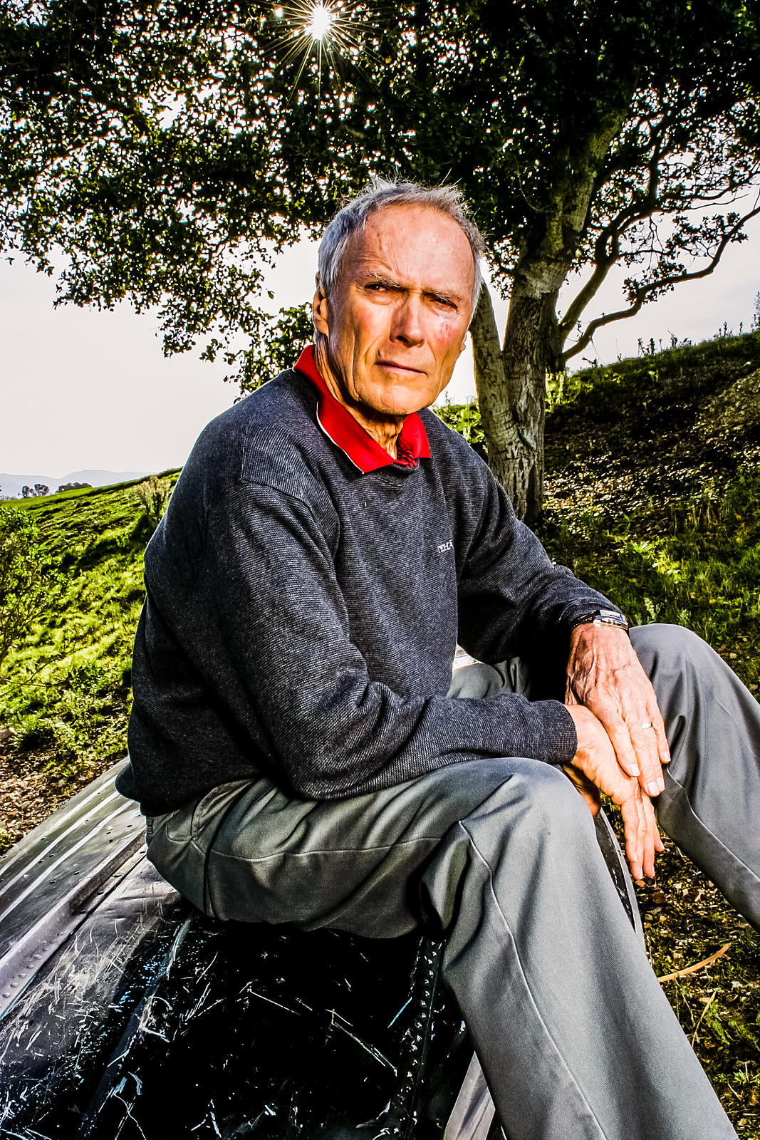 Clint Eastwood at Tehema for Private Air Magazine. Editorial picture by Jason Tinacci
