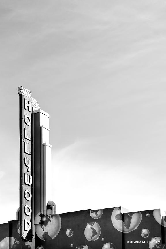 HOLLYWOOD CALIFORNIA BLACK AND WHITE VERTICAL