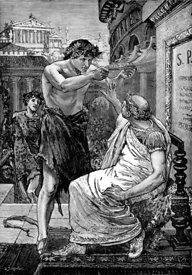 Mark Antony offers diadem to Julius Caesar