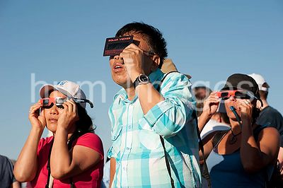 May 20, 2012 Visitors to Arches National Park Solar Eclipse Viewing