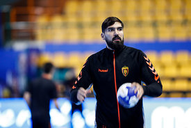Jorge Maqueda during the Final Tournament - Final Four - SEHA - Gazprom league, Team training in Brest, Belarus, 06.04.2017, ...