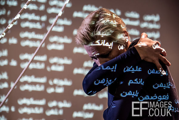 Natalia Pestova Performs At The Silence Of The Words Exhibition At The French Institute In Erbil