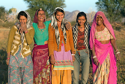 A family of women flower farmers, Picholiya village, Rajasthan, India
