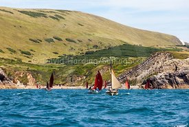 Drascombes approaching Lulworth Cove, 201707070138