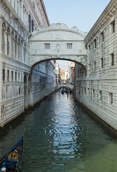 Italy, Venice, View of Bridge of Sighs