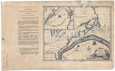 Chart of the Gulf Stream annotated by Benjamin Franklin