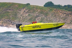 Mercury Racing, C-237, competing in the Fortitudo Poole Bay 100 Offshore Powerboat Race, 10th June 2018, 20180610090