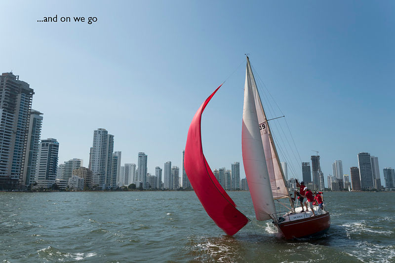 On board the Kolé Serré, regatta in La Bahia, Cartagena, Colombia