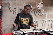 DJ, Mzoli's, Gugulethu township, Cape Town, South Africa