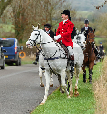 Nicholas Leeming on Owston Road. The Cottesmore Hunt at Somerby