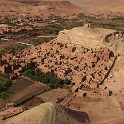 Aerial View of the Ksar, Ait Ben Haddou, Southern Morocco