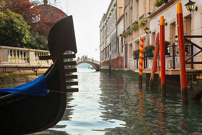 Italy, Venice, Gondolas in canal at St Mark's Square