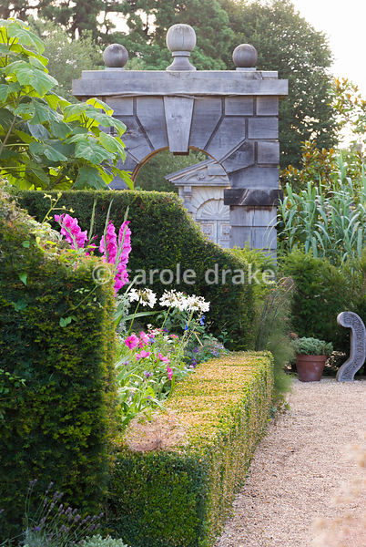 Adjoining the Collector Earl's Garden the Organic Kitchen and Flower Garden features neat box hedging and lush plantings of a...