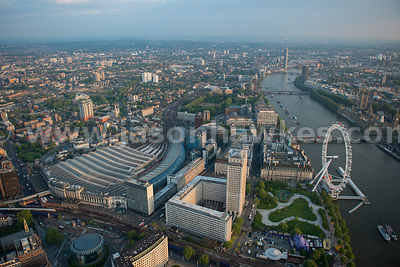 Aerial view of Lambeth, London