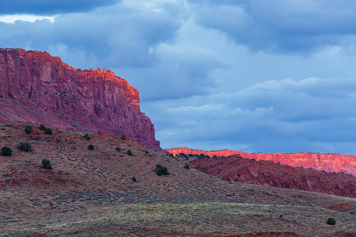 Sunset Light on Cliffs in Vermilion Cliffs National Monument