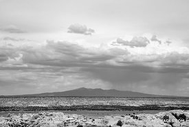 NORTHERN NEW MEXICO BLACK AND WHITE LANDSCAPE