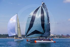 Grey Goose, GBR809M, Farrier F-32AX trimaran, Poole Regatta 2018, 20180528413